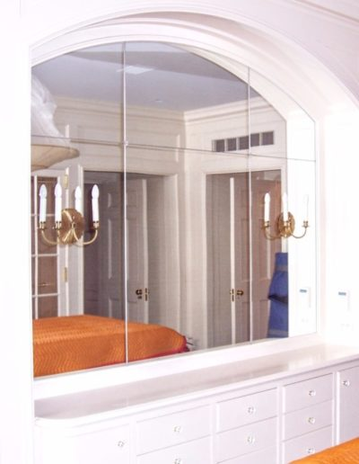 Framed Glass Wall Arch