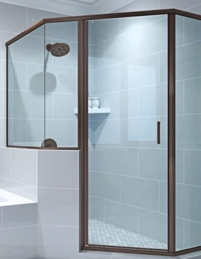 Semi Frameless Hinged Glass Shower Door