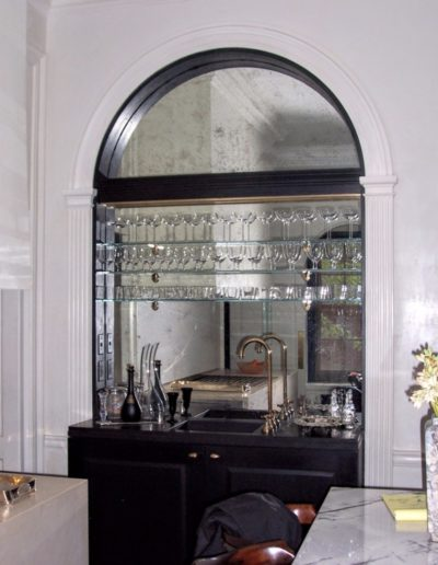 Bar Mirror with shelving and arch