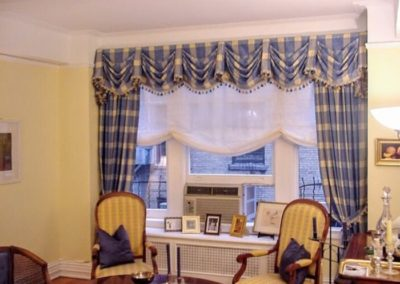 Valance with Roman Shade