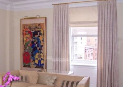 Drapery with Custom Roman Shades