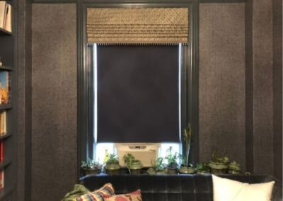 Roman Shade with Glass Bead Trim